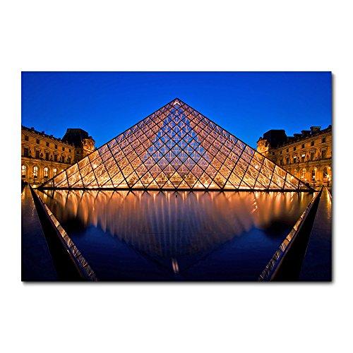 Placa Decorativa - Paris - Museu do Louvre - 2262plmk