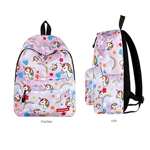 Lightweight Series For 5 Girls Hiking Color6 Backpack Unicorn School Trips Camping Pattern Bag Ttd Color Kids fqT44C