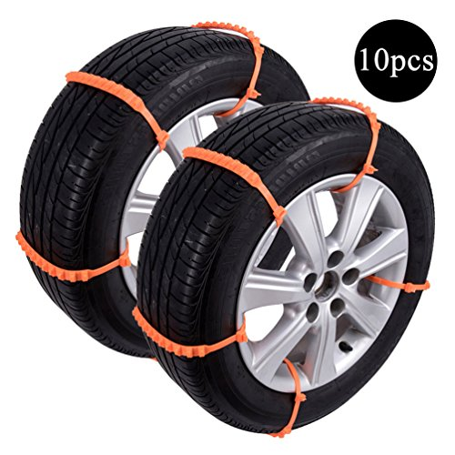 Car Snow Tire Chain, Anti Snow Chains of Car, Portable Emergency Traction Aid Anti-slip Chain Vehicle Snow Chains Ice & Snow Traction Cleats