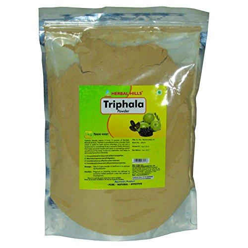 Herbal Hills Triphala Powder, Natural and Pure Triphala Churna (Amla, Harad, Baheda) for Healthy Digestion, 1 kg