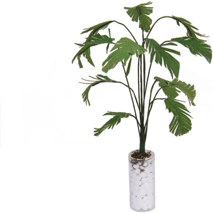 LEORX Dollhouse Plant Miniature Banana Tree 1:12 Scale Beautiful Dollhouse Green Plant
