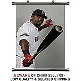 David Ortiz MLB Baseball Superstar Fabric Wall Scroll Poster (32x48) Inches