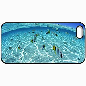 Personalized Protective Hardshell Back Hardcover For iPhone 5/5S, Under Water Excellent Fish 16666 Design In Black Case Color
