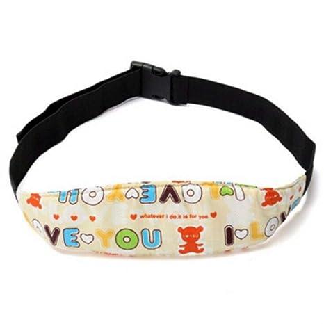 Leisial Soporte Cabeza para Bebés Niños Arnés Cinturón de Seguridad Coche Asiento Cochecito Banda de Cabeza