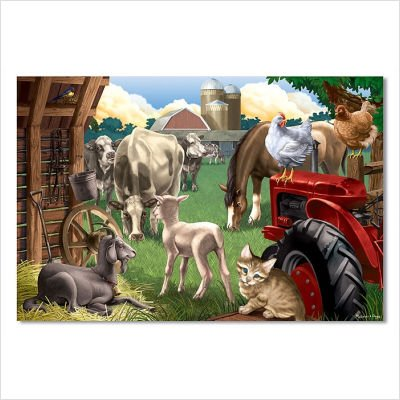 - Melissa & Doug Farm Friends Floor Puzzle - 24 Piece