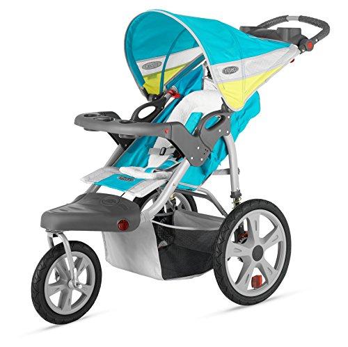 Brown Blue Bob Stroller - 2