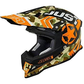 Just 1 Helmets J12 Casco de Motocross, Naranja/Camuflaje, XS