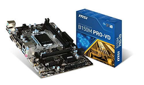 MSI Intel Skylake B150 LGA 1151 DDR4 USB 3.1 Micro ATX Motherboard (B150M Pro-VD) (Renewed)