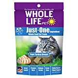 Whole Life Pet Just One-Single Ingredient Freeze Dried Treats for Cats Pure Turkey Breast, 1oz