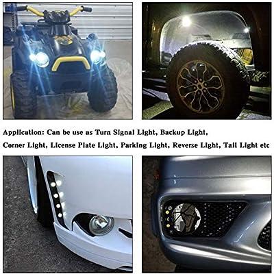 YITAMOTOR 6pcs Eagle Eye LED High Power 9W 12SMD Waterproof Car LED Lighting Kit Motorcycle Daytime Running Light DRL Fog Backup Tail Lights (23mm, White): Automotive