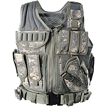 Yakeda Army Fans Tactical Vest Cs Field Outdoor Equipment Supplies Breathable Lightweight Tactical Vest Swat Tactical Vest Special Forces Combat Training Vest--1063£¨ACU£