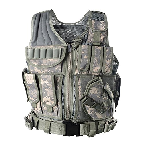 Yakeda Army Fans Tactical Vest Cs Field Outdoor Equipment Supplies Breathable Lightweight Tactical Vest Swat Tactical Vest Special Forces Combat Training Vest–1063£¨ACU£