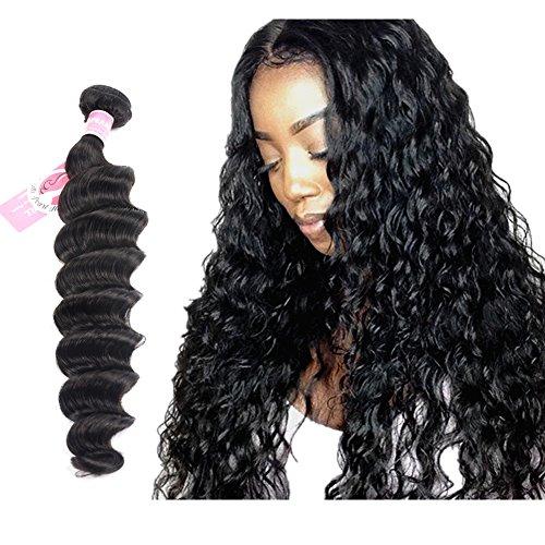 Ali Pearl Hair Loose Deep Wave Hair Extentions Brazilian Virgin Hair Loose Deep Bundles Single Bundle One Bundle (18) ()