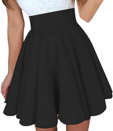 VEMOW Falda Mini Camiseta Tops para Mujer de cóctel para ...