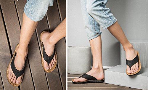 de Sandalias Playa Piscina Hombre de para Negro Zapatos y Punta Descubierta dHq7dF