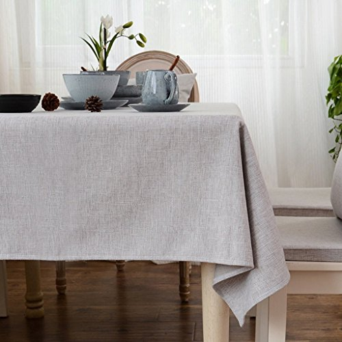 DIDIDD Gray cotton linen tablecloth japanese art simple style solid plain color dining table cloth for home hotel cafe restaurant 140220cm rectangle by DIDIDD