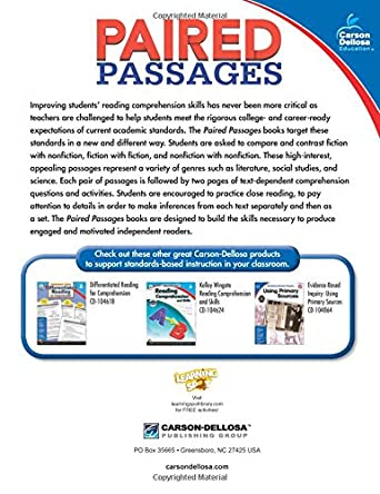 Paired Passages, Grade 6: Sara Blackwood: 9781483830704: Amazon ...