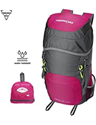 Forbidden Road Hiking Backpack Daypack 35L 0.7lbs Ultralight (3 Colors) Foldable Water Resistant Nylon for Camping...
