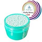 Mini Foam Fluffy Slime - Scented 3D DIY Sludge Slime Stress Relief Toy for Kids and Adults, Super Soft & Non-sticky, Children Arts Crafts Party School Supplies by Wonder Space (Green) (7 OZ)