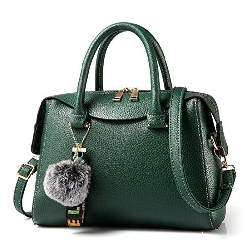 broderie tout Luckywe la monnaie cuir Vert main porte en Sac main sacoche en fourre à Hobo cuir à qYqg7U