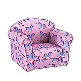 PALDIN Kids Armchair Children Tub Chair, Children's Seating Chair Girl Boy Upholstered Armchairs Cartoon Sofa for Bedroom Playroom (Unicorns)