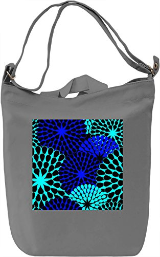 Bright Blue Print Borsa Giornaliera Canvas Canvas Day Bag| 100% Premium Cotton Canvas| DTG Printing|