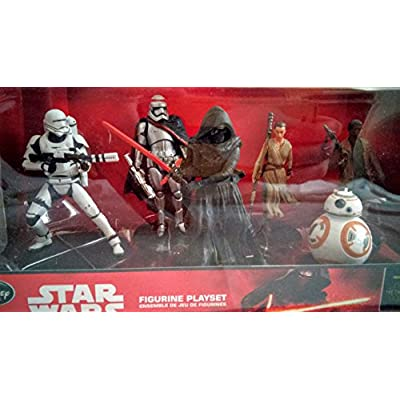 Star Wars The Force Awakens Figurine Playset 6 Piece Set : Toys & Games