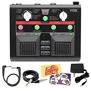 vox vll1 lil 39 looper multi effects guitar pedal bundle with ac adapter power supply. Black Bedroom Furniture Sets. Home Design Ideas