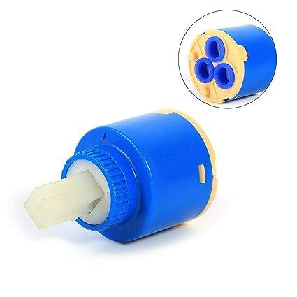 Ownace 35 mm//40 mm 35 mm Ceramica con cartuccia in plastica con disco in ceramica da bagno con miscelatore monocomando a leva per doccia
