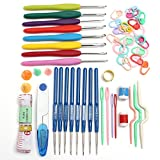 Jeteven 16sizes Crochet hooks Needles Stitches knitting Craft Case crochet set in Case