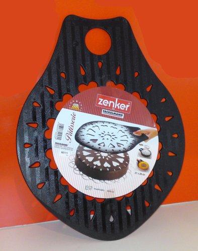 FACKELMANN 42570, Kuchenheber und Torten-Dekoschablone, 37x28cm, farblich sortiert