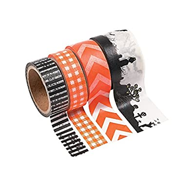 Fun Express Spooky Halloween Washi Tape (6 Rolls) Bulk Craft Supplies by Oriental Trading Company