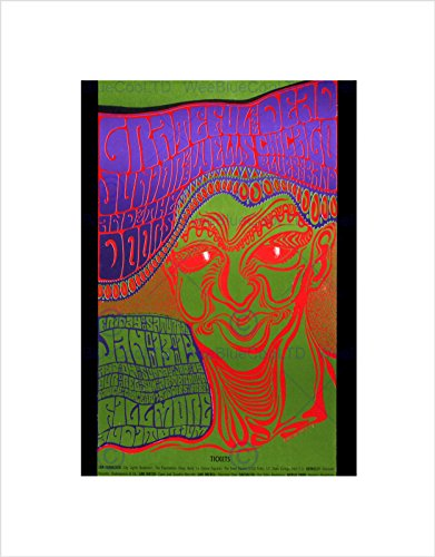 The Doors Concert Poster - MUSIC CONCERT GIG GRATEFUL DEAD DOORS ROCK TRIPPY ICON BLACK FRAME FRAMED ART PRINT PICTURE + MOUNT B12X5652