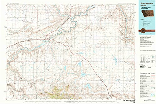 Fort Benton Mt Topo Map  1 100000 Scale  30 X 60 Minute  Historical  1984  Updated 1984  24 1 X 36 1 In   Tyvek