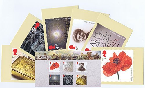 Gift Set of 2014 The Great War 1914 Presentation Pack and PHQ Cards by Royal Mail Presentation Pack and PHQ Cards