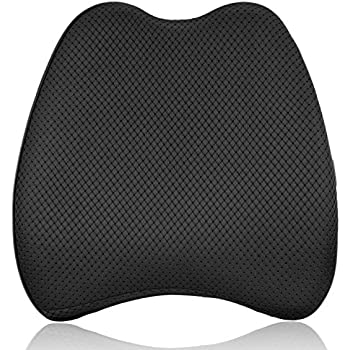 Amazon Com Portable Lumbar Seat Cushion Black Automotive