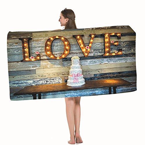 Moslion Bath Towels Wedding Wedding Cake Multicolor Towel Adult Soft Towel 32 X 64 Inch Bath Sheet