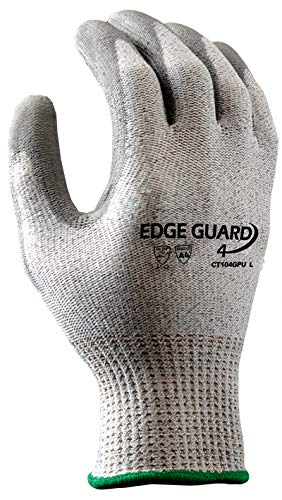 Stauffer EdgeGuard4™ Cut Resistant Glove with PU Coating, Cut Level A4, Extra Large, (Pack of 12) by Stauffer Glove & Safety (Image #2)