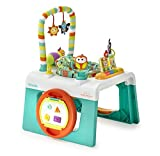 Kolcraft 1-2-3 Ready-to-Grow Infant/Toddler Activity Center - 3-Stage Developmental Toys, English & Spanish Modes, Learn & Play Piano, 360 Rotating Height Adjustable Seat, Flutter Bugs
