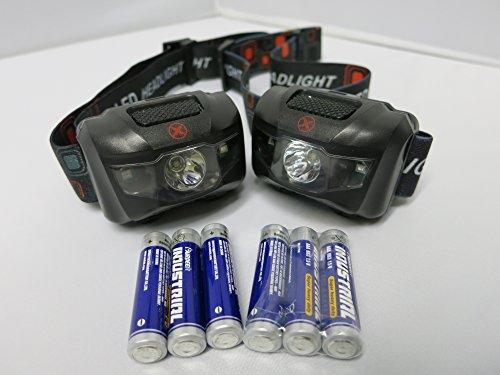 XELA Global 2, Bright, Lightweight Headlamps w/ 6 AAA Batteries
