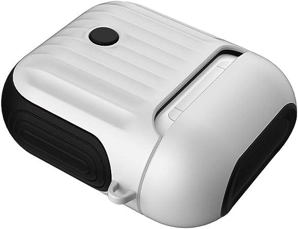 FBGood - Funda magnética para AirPod (Incluye Soporte para la Caja de Carga, TPU y policarbonato), diseño de airpods de Apple: Amazon.es: Hogar