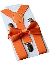 9693c212253 Unisex Kid Boys Girls Adjustable Bow Tie   Suspender Sets