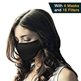N95 Respirator Mask (Pack of 4 Masks 16 Filters) - Breathing Mask, Pollution Mask Filter and Allergy Mask for Pollen and Protect Against Illness, Allergens, Pollutants and Maintain Better Health