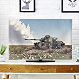 PRUNUS tv dust Cover American Main Battle Tank of The Cold war Computer generated Dust Resistant Television Protector W30 x H50 INCH/TV 52''
