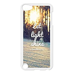 Bible Verse Inspirational Quote Hardshell Cover Case for iPod Touch 5, 5G (5th Generation)