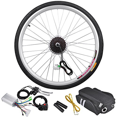 Best of AW 26″x1.75″ Rear Wheel 36V 250W Electric Bicycle Light Motor Kit Dual Mode Controller Cycling Hub Conversion