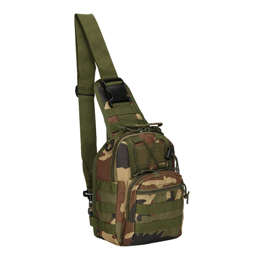 LiPing 11.8×8.6×2in Outdoor Bag Backpack Camping Hiking Bag Camouflage Hunting Backpack Utility for students, men, women studying life and work (F)