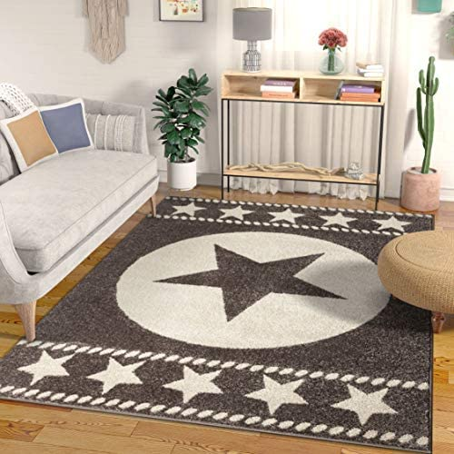 Well Woven Caspian Lone Star Brown Texas Area Rug 5×7 5 3 x 7 3