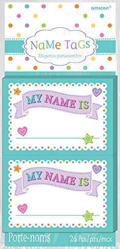 Baby Shower Sticker Name Tags (26pc)