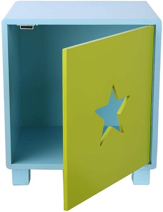 EBTOOLS Cajas de Juguetes con Puerta Caja de Almacenaje Caja de Madera para Almacenaje Cubos de Almacenamiento Baúles para Juguetes para Bebé, Patrón de Estrella, 39 x 35 x 30cm: Amazon.es: Hogar